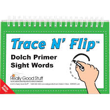 dolch primer trace n flip dolch primer sight words
