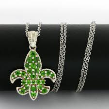 authentic lorenzo 925 sterling silver 1 21ctw genuine chrome diopside necklace