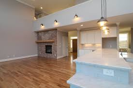 Red Brick Flooring Kitchen Raleigh Custom Home Builder Stanton Homes