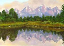 Grand Tetons Painting by Merle Blair