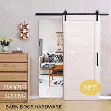 6ft antique black steel sliding barn wood door hardware closet track kit set
