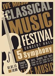 Free Music Poster Templates Classical Music Retro Concert Poster Template 04 Free Download