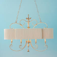 pleated shade french island chandelier shades of light