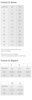 Forever 21 Shoe Size Chart In Inches Style By Juliet Size Chart