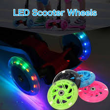 Micro Light Up Scooter 80mm Scooter Wheel Led Wheel Flash Light Up Wheel With 2