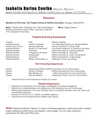 Theatrical Director Resume Best American Essays Five Points A Journal Of Literature And 5