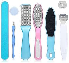 generic 8pcs grinding manicure pedicure tool dead skin removal callus remover cuticle nail clipper foot care kit