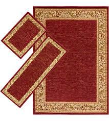 surya mid4740 3pc midtown dark red area rug custom shape photo
