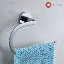 Towel holder Hand Towel Nwt Direct 215mm w Evora Designer Chrome Towel Holder