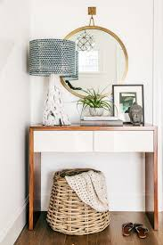 entryway table with drawers. small modern entryway console with a wwooden surface and white drawers table