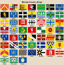 English County Flags Chart Recognised County Flags British County Flags