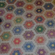Mae Breneman's Grandmother's Flower Garden Quilt &  Adamdwight.com