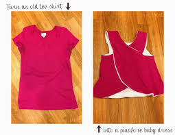 Diy Upcycled Clothing Mom Mart Diy Upcycle A Shirt Into A Baby Dress