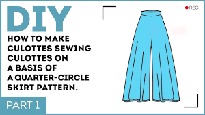Culottes Pattern Enchanting DIY How To Make Culottes Sewing Culottes On A Basis Of A Half