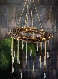 20 outdoor lighting ideas for a shabby chic garden 6 is lovely wood the perfect bohemian chandelier