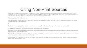 Citing Sources In College Essay