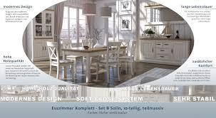 Esszimmer Komplett Set Solin 10 Teilig Farbe Eiche