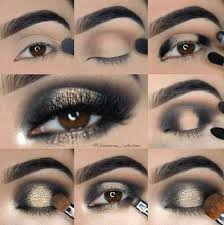 hottest eye makeup trends for 2018 black and gold smoky eye effect it s time