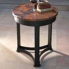 copper end tables from mexico global views draw attention classic table