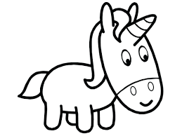 Printable Unicorn Coloring Pages Cute Baby Hard Cute Baby Unicorn ...