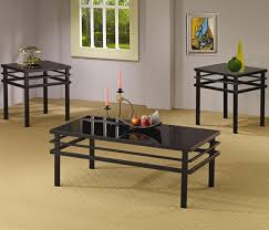 ... Coffee Table, Attractive Black Rectangle Minimalist Glass Top Coffee  Table Sets Designs: Brilliant Glass ...