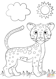 Small Picture Cute Cartoon Jaguar coloring page Free Printable Coloring Pages