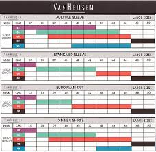 Van Heusen Size Chart How To Measure Sleeve Length Shirt