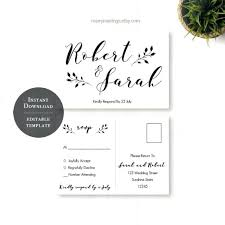 Wedding Rsvp Postcard Template Free Together With Free Download