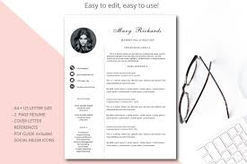 Resume Template Cv Template Simple Style By Annakristal