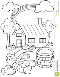 reduced coloring book house 46191