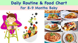 Daily Routine Diet Chart For 8 9 Months Baby In Hindi With Complete Details