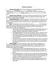 Sample Roommate Contract Roommate Agreement Roommate Agreement 1 Parties And Location This
