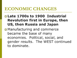 "big ideas for ccot and comp essays more ""world"" in world trade 9 economic changes  late 1700s to 1900 industrial revolution first in europe"