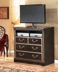 Furniture Bedroom Media Center Mirrored Chest Drawers Ashley