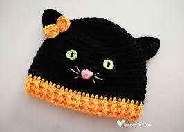 Crochet <b>Halloween Black</b> Cat <b>Hat</b> Free Pattern - Crochet For You