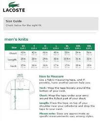 Lacoste Uk Shoes Size Chart Purchasing Authentic Ralph Lauren Lacoste Shirts On
