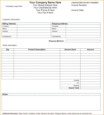Roofing Invoice Template Best Format Roofing Receipt Template ...