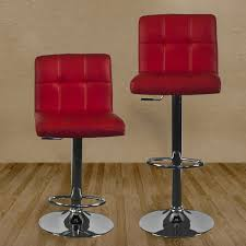 Kitchen Bar Stool Furniture Carcaso Kitchen Bar Stool Red With Red Bar Stools And