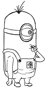 Coloring Pages Despicable Me Minion Anime