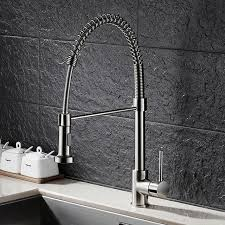 tension drawing spring kitchen faucet American pull type hot and