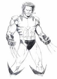 Kleurplaat Wolverine 5