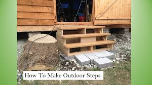 Outdoor Steps Simple Outdoor Steps Youtube