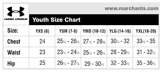 42 Exhaustive Size Chart For Youth Under Armour