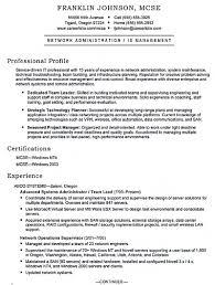 Network Administrator Resume Sample New Salesforce Administrator