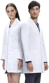 Lab Coat Size Conversion Chart Dr James Unisex Lab Coat Tailored Fit Multiple Pockets 35 Inch Length