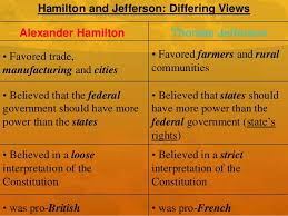 hamilton v jefferson hamilton and jefferson