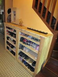 Beautiful Handy Hallway Pallet Shoe Rack Pallet Ideas 1001 Pallets As Well  As Stunning Pallet Shoe