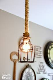 Industrial Style Kitchen Pendant Lights Diy Industrial Pendant Light For Under 10 Blesser House