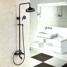 oil rubbed bronze shower faucets set rainfall waterfall heads orb bathroom