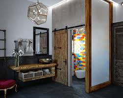 rustic modern bathroom ideas. This Eclectic Bathroom Mixes Vintage, Modern, Industrial And Rustic Decor Modern Ideas